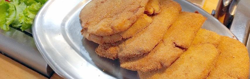 Imagem receita jiló a milanesa com parmesão