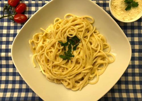 Espaguete cremoso